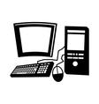 desktop computer isolated icon design vector image