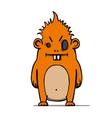 Funny angry cartoon hairy monster vector image