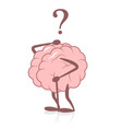old brain and memory loss vector image