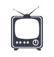 retro television entertainment device vector image