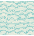 Seamless abstract hand-drawn waves texture wavy vector image
