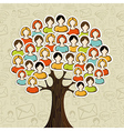 Social media networks tree vector image