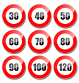 Speed limit sign vector image