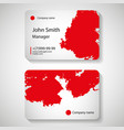 stylish red business card template vector image