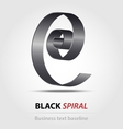 Stylized black spiral business icon vector image