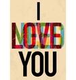 Valentines Day type text calligraphic vector image