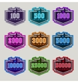 Thank You Followers Badge Set vector image