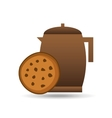 cookie bakery pot coffee icon design graphic vector image