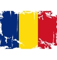 Romanian grunge flag vector image vector image