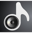 speaker and musical note vector image