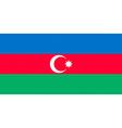 azerbaijani flag vector image