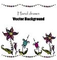 doodle flower background vector image