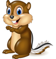 Cartoon chipmunk sitting vector image vector image