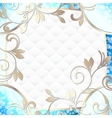 frame in vibrant blue on white vector image vector image