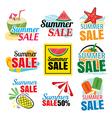 summer sale banner set vector image vector image