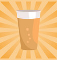 alcohol drink with bubbles symbol of oktoberfest vector image