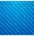 blue 3d wavy background vector image