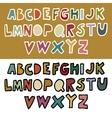 Doodle retro alphabet in vector image