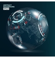 Futuristic Globalization Interface Earth Science vector image