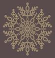 pretty round snowflake vector image