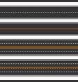 roads seamless background horizontal straight vector image
