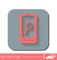 smartphone magnifying glass vector image