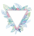 triangle boho frame vector image