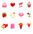 Valentine day icons vector image