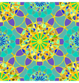 Yellow fractal diamond on a background of blue vector image