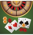 cards chips dice casino icon vector image