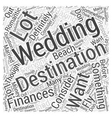 destination weddings Word Cloud Concept vector image