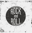 rock and roll typography for t-shirt graphic vector image