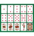 Playing cards of Clubs vector image