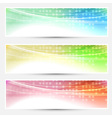 Abstract bright colorful banners set - web vector image vector image