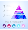 pyramid icon with infographic elements vector image