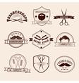 Barbershop Badges Set in Vintage Style vector image