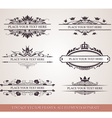 Design elements and frames vector image vector image