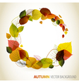 Autumn abstract floral background vector image vector image