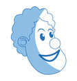 character clown circus juggler cheerful image vector image