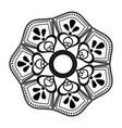 flourish mandala decoration vintage for painting vector image