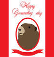 Groundhog day vector image