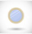 mirror flat icon vector image