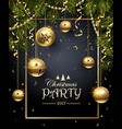 Christmas Party design vector image vector image