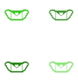 Set of paper stickers on white background envelope vector image