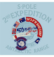 south pole antarctica expedition vector image vector image