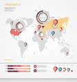 World map infographic vector image