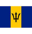 barbadian flag vector image