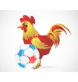 Cartoon Rooster as symbol of France with ball vector image vector image