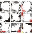 grunge frames vector image