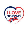i love norway vector image